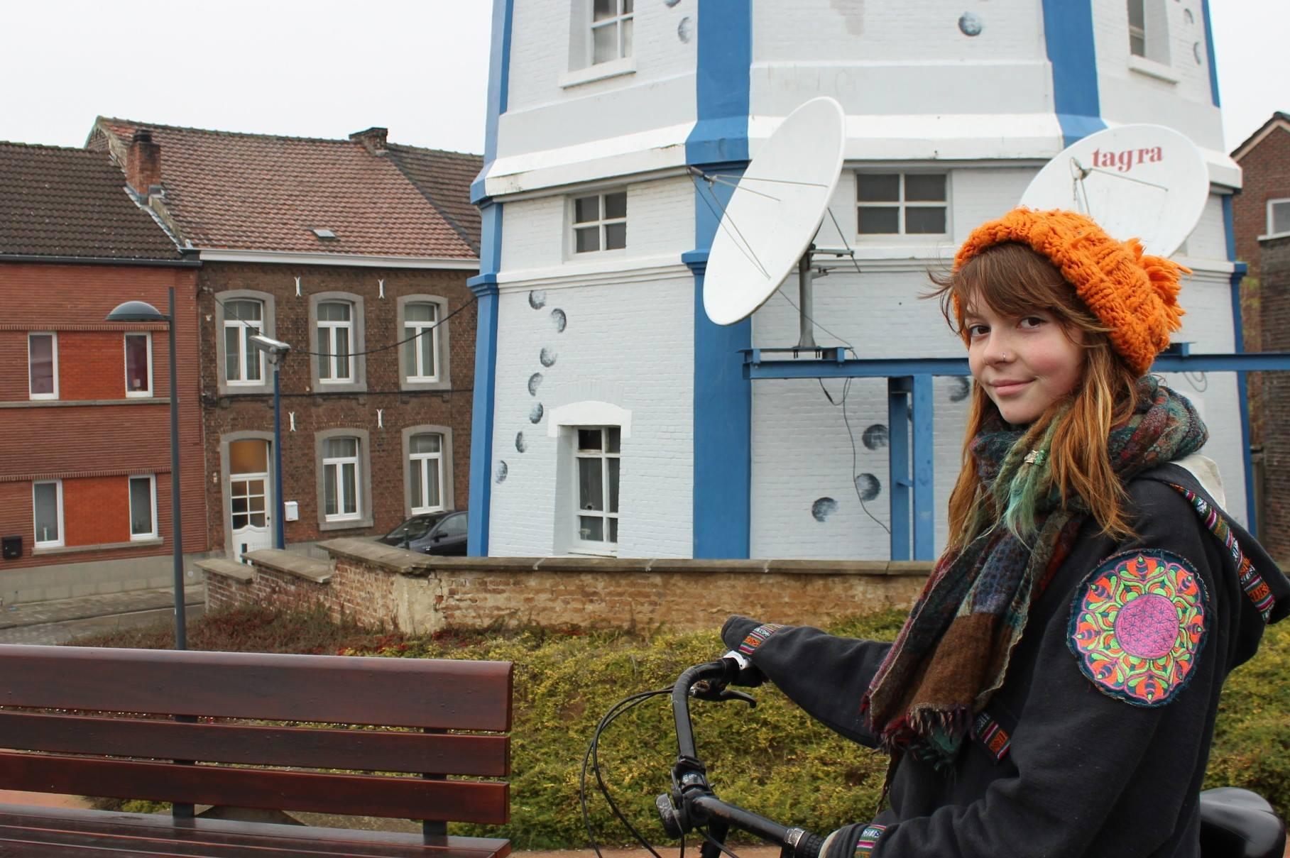 Landen op de fiets
