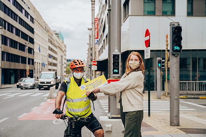 Als een echte fietsambassadeur