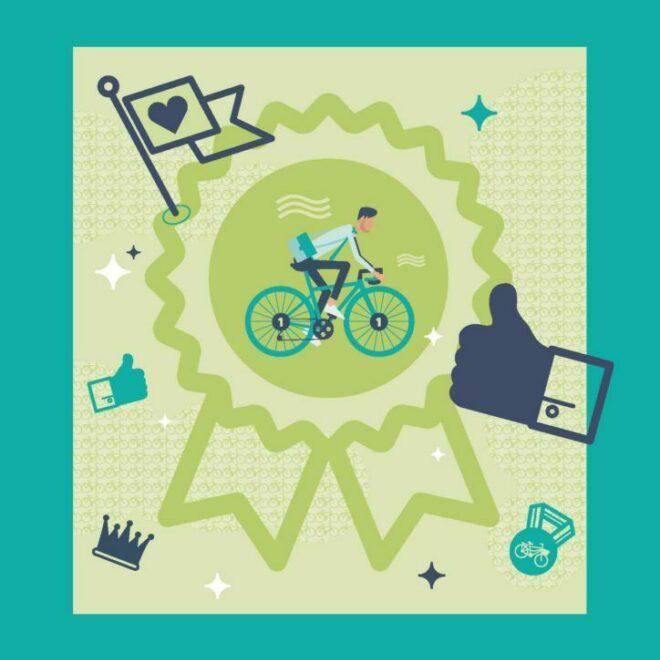 Beloonsystemen om meer mensen op de fiets te krijgen