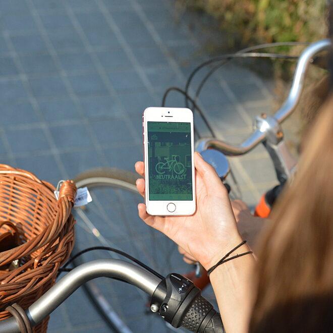Stadsspel op de fiets