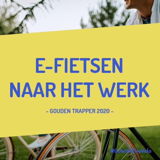 Elektrisch fietsen naar het werk
