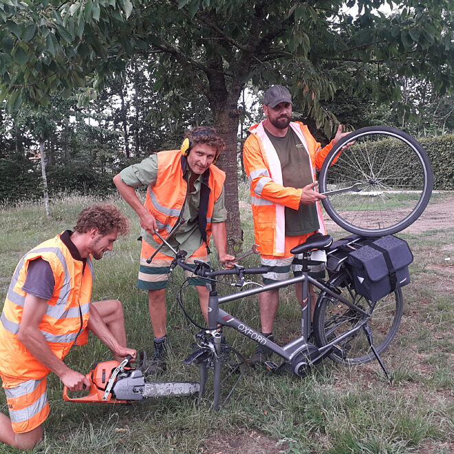 Publiek fietsherstelpunt
